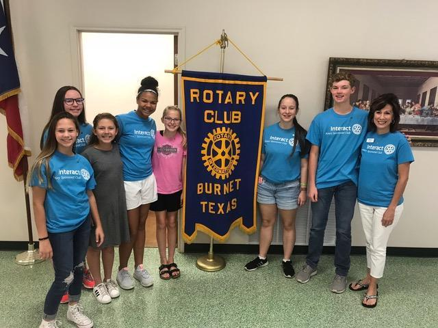 Interact Officers Inducted by Rotary Club of Burnet Thumbnail Image
