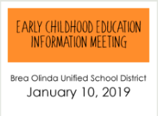 Early Childhood Meeting