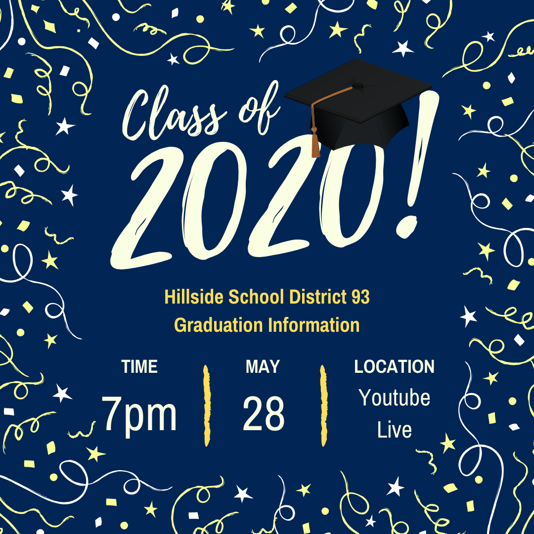 Virtual Graduation for Class of 2020 is Thursday, May 28 at 7pm on Youtube Live