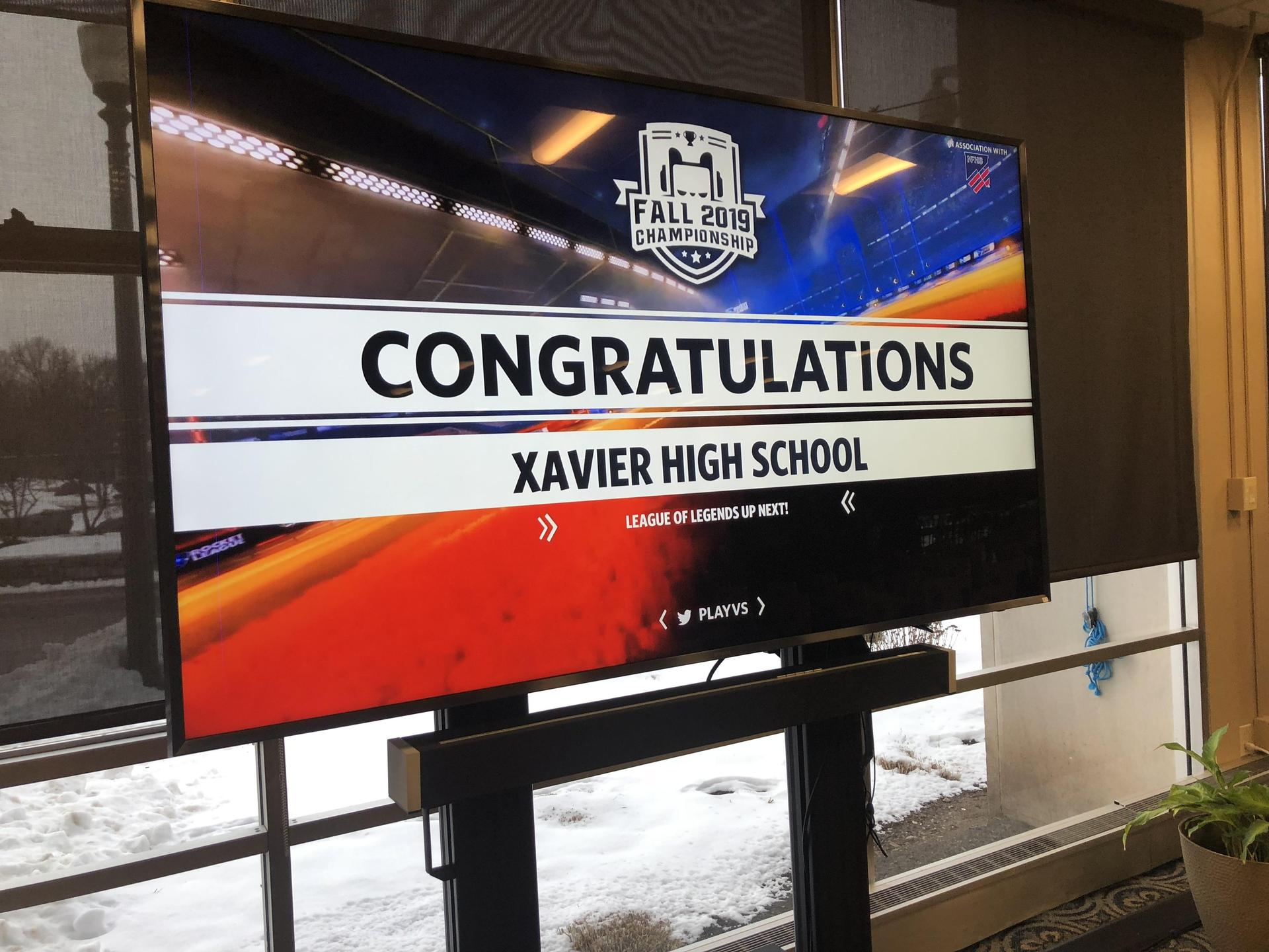 avier High School's Rocket League champions for 2019-2020 season.