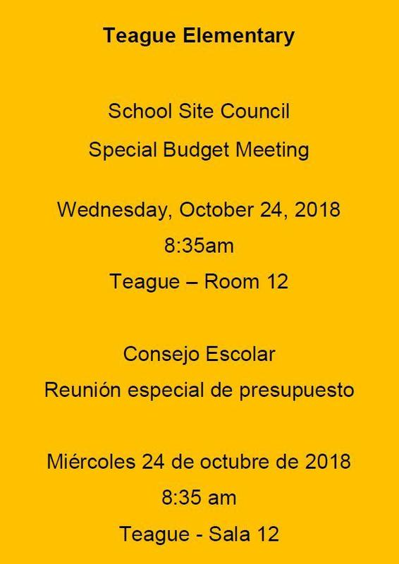 SSC special budget meeting