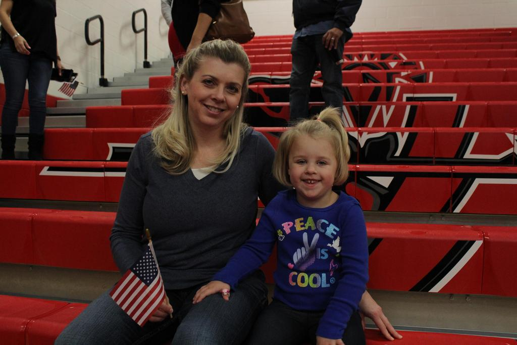 Patrons showing support at the Veterans Day Assembly