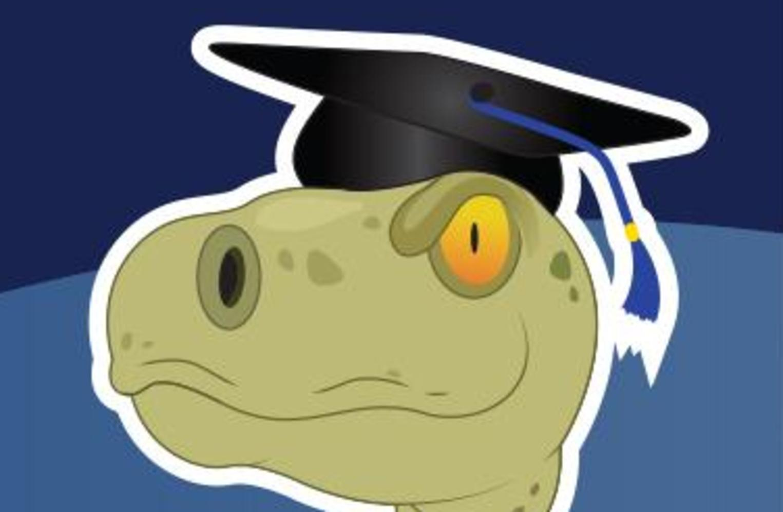 Raptor Mascot Image with Grad Cap