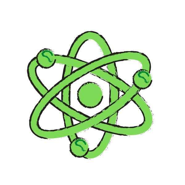 graphic of an atom