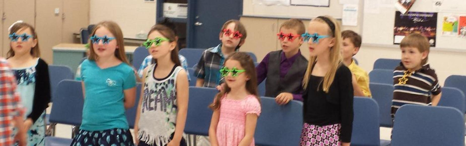 Students in Star Glasses Picture