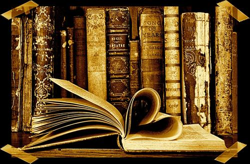 Book with pages as a heart