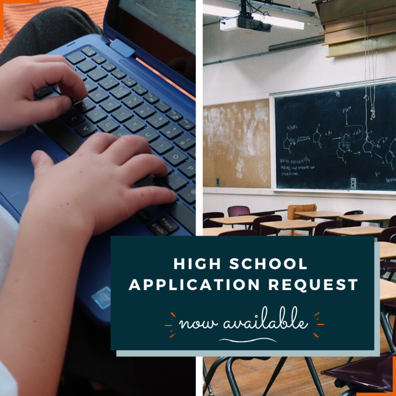 High School Application Request Image