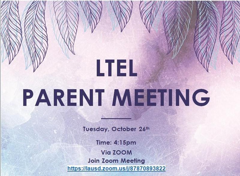 LTEL Parent meeting/Reunion de Padres de Estudiante de inglés a largo plazo Featured Photo