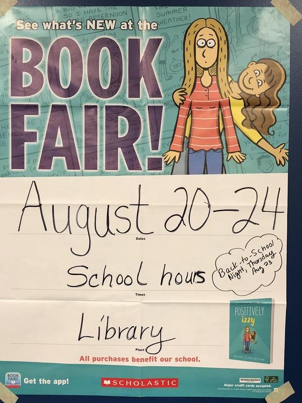 The Book Fair is taking place at Cottonwood this week.