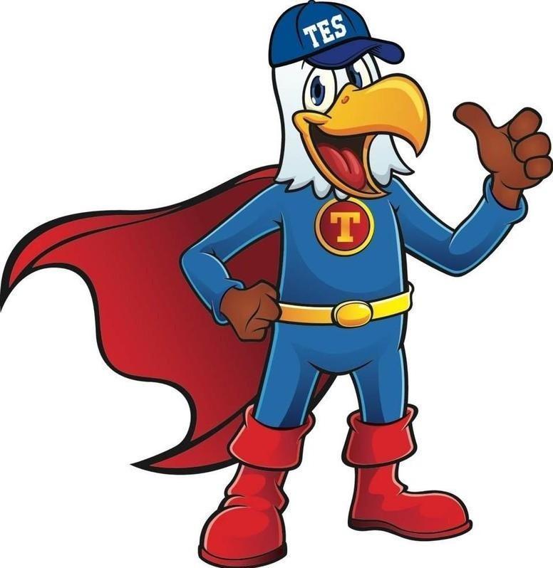 TES mascot Jack the Eagle