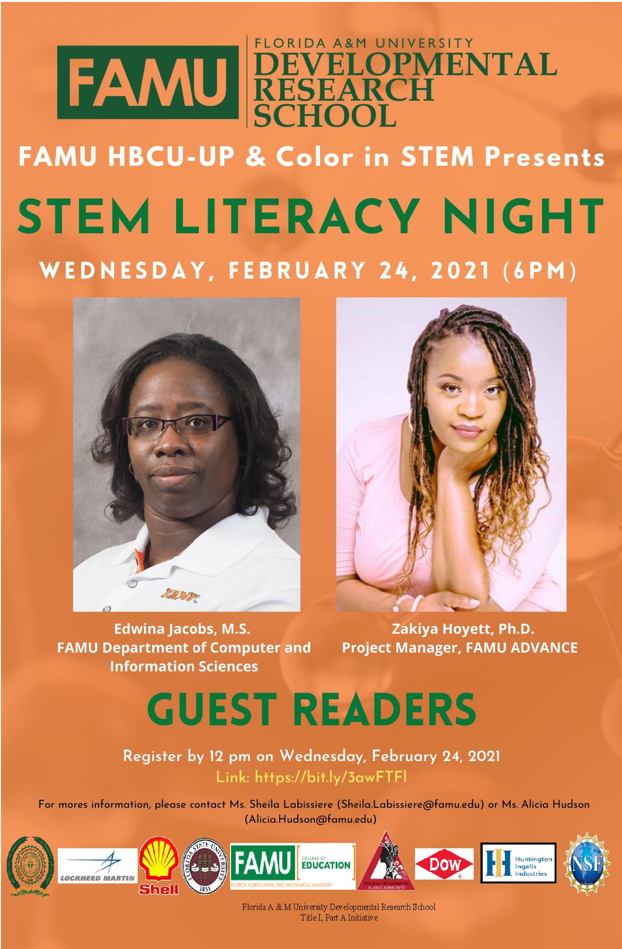 STEM Literacy Night 2 Flyer (2.24.2021)