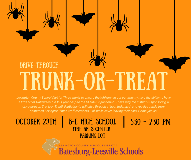 Lexington Three To Host Drive-Through Trunk-or-Treat