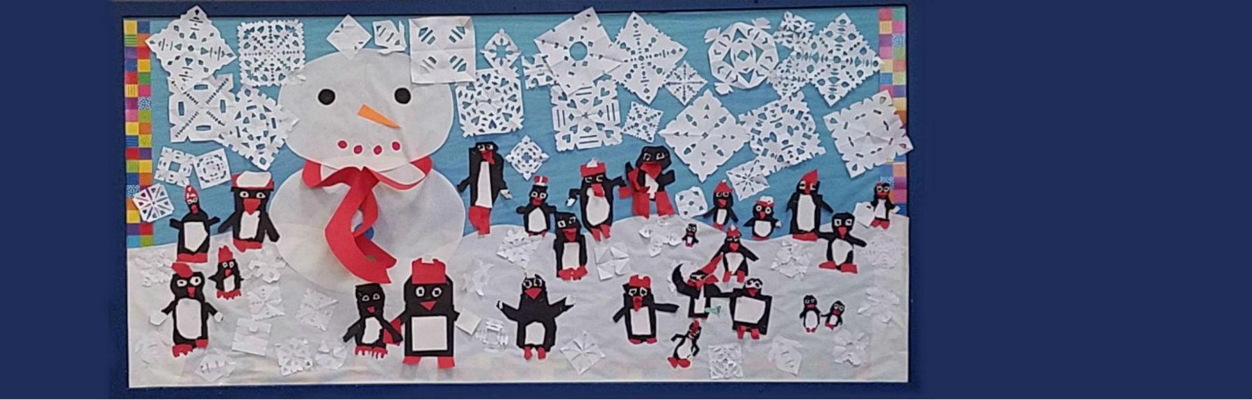 Winter Themed Bulletin Board in the MPR
