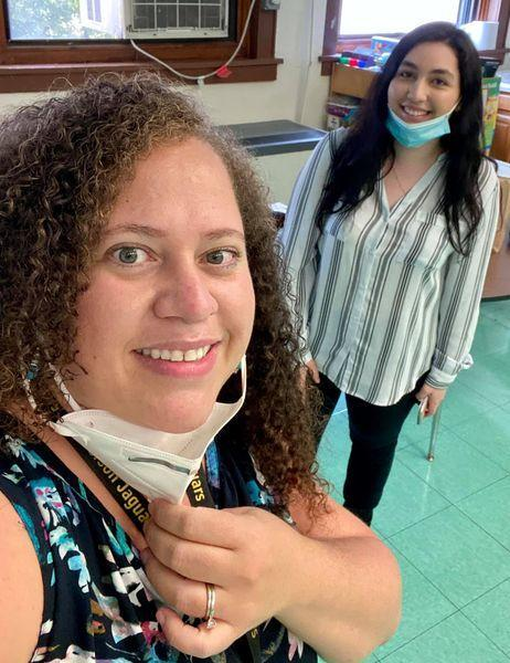 selfie of Ms. Ramirez and Ms. Capurso
