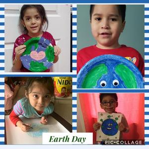 collage of students earth day projects