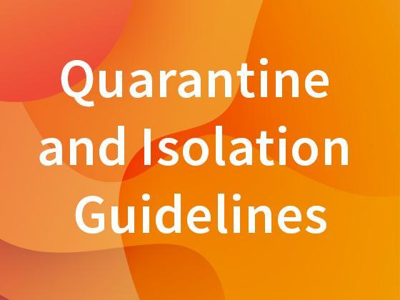 Covid Quarantine and Isolation protocols image