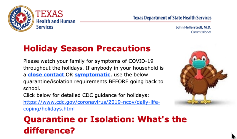 Holiday Season Precautions From the Texas DSHS Featured Photo