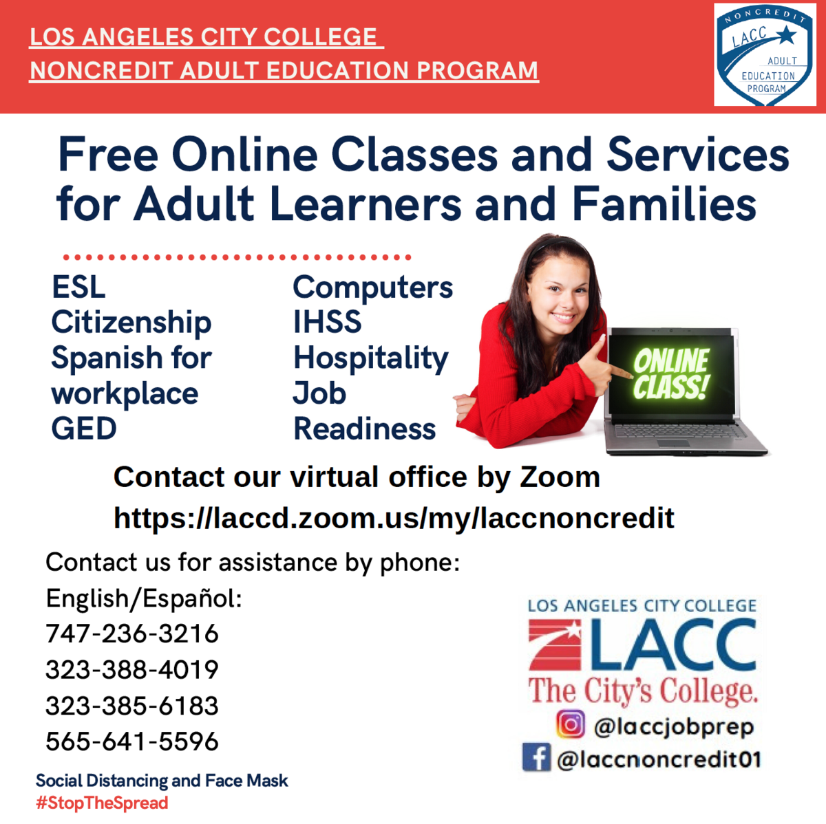 LACC Summer Classes 2020