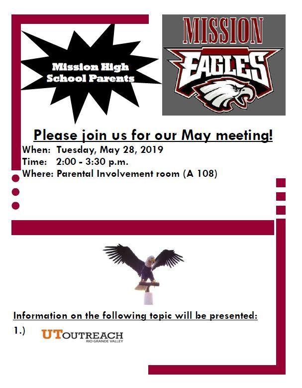 Parent meeting May 28 Featured Photo