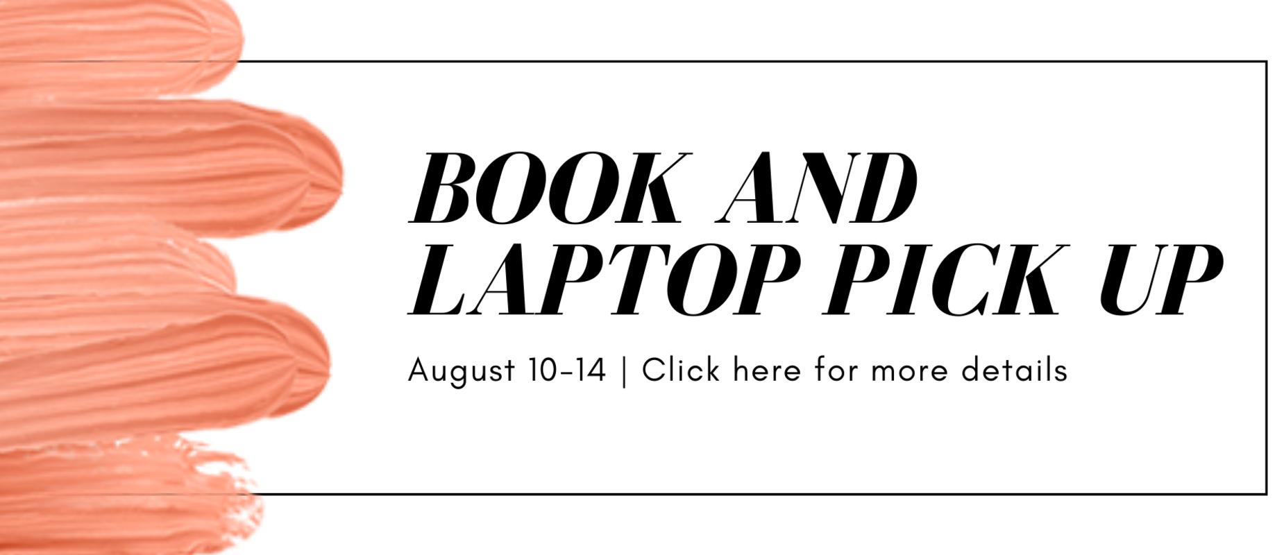 book laptop pick up 8/10-14