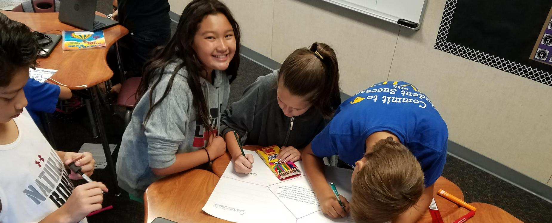 students working on AVID strategies