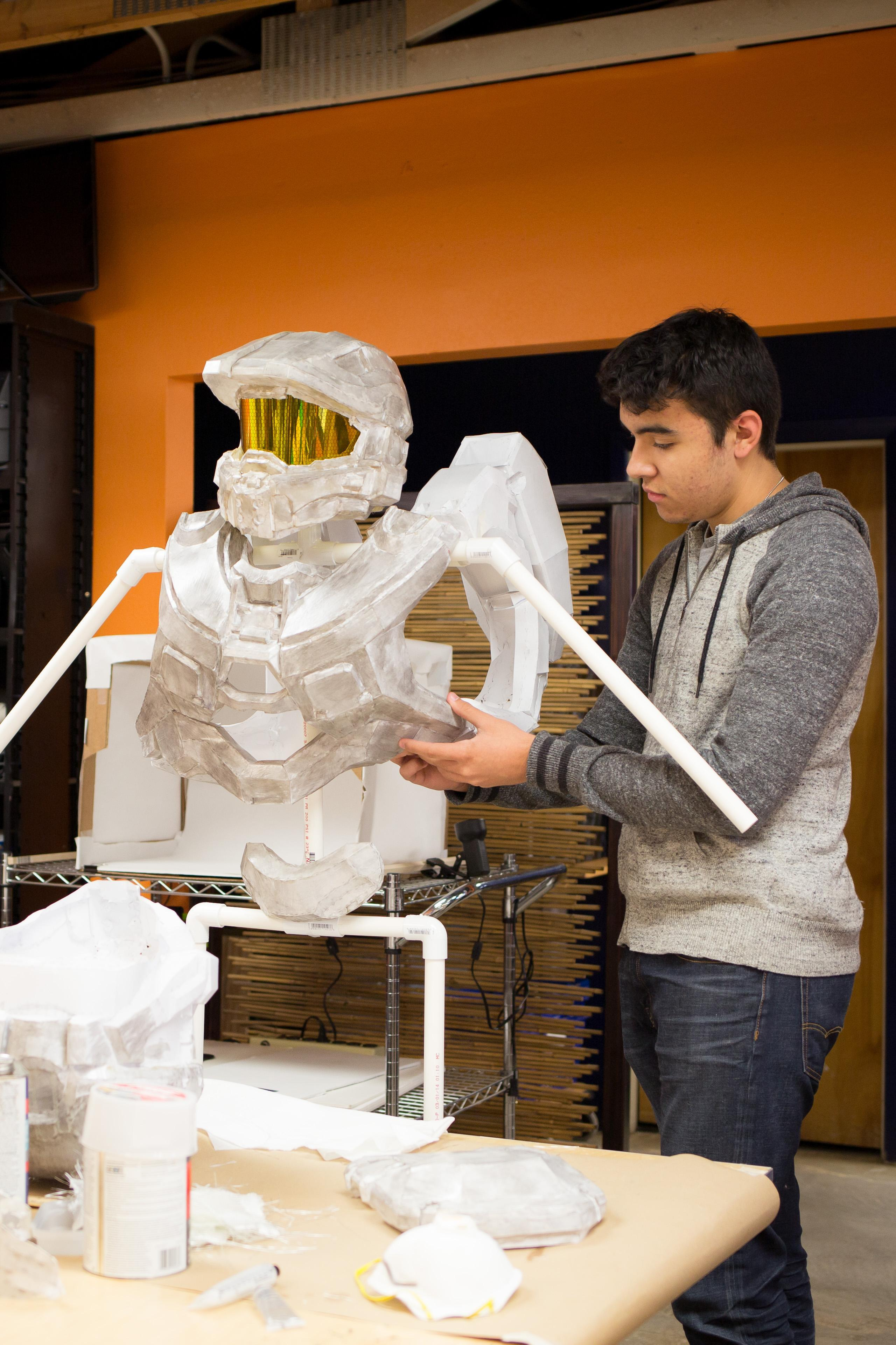 Upper School student makes Halo suit using special materials in the makerspace