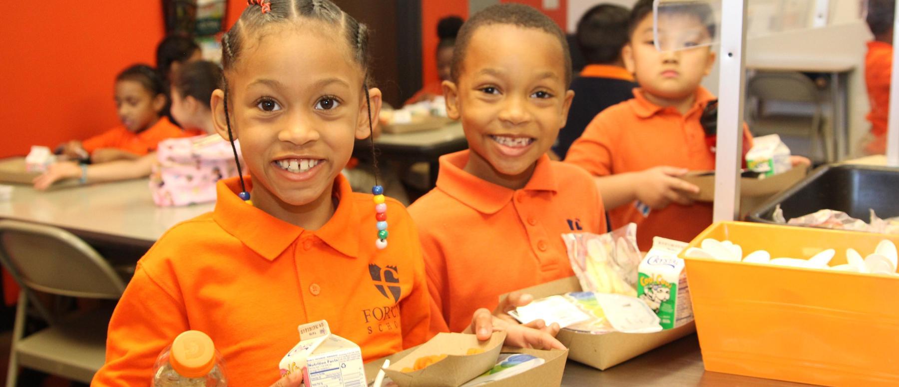 Fortune scholars in the school lunch line