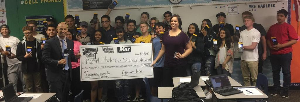 Mrs. Harless receives $1000 One Classroom at a Time Award