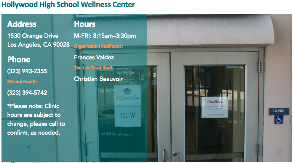 Home Wellness Center Hollywood High School