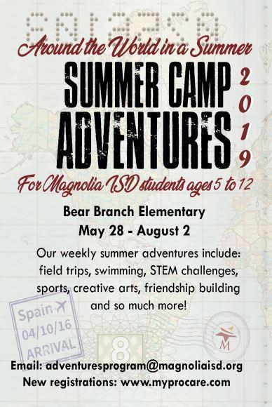 Summer Adventures camp flyer