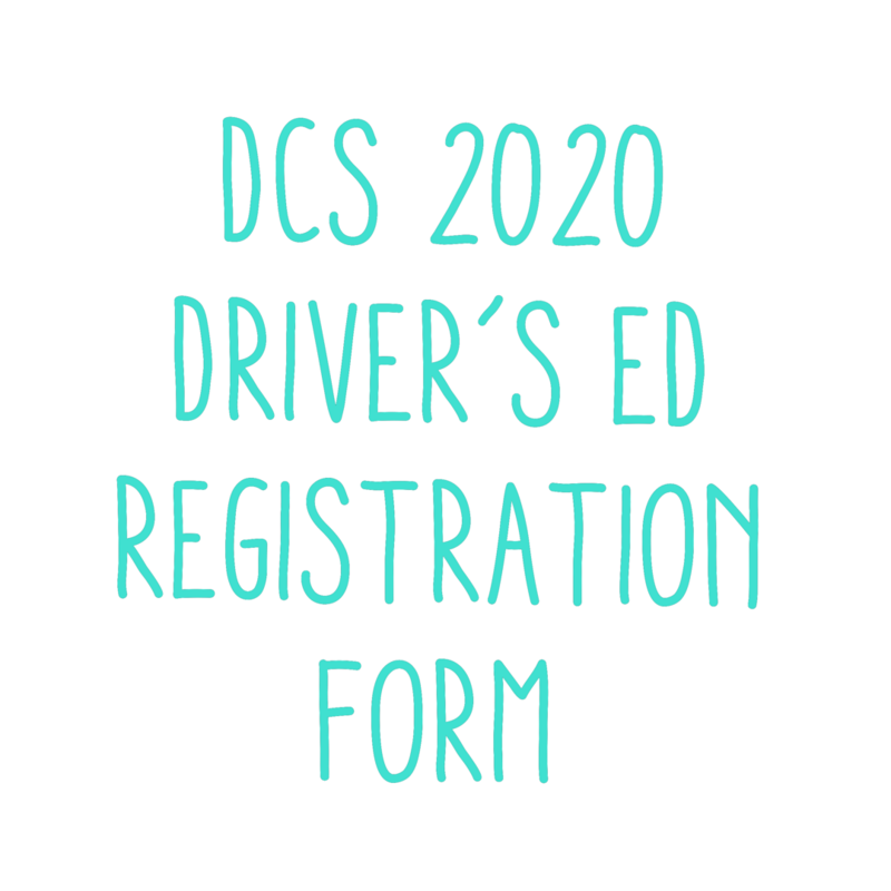 2020 SUMMER DRIVER'S ED FORM Featured Photo