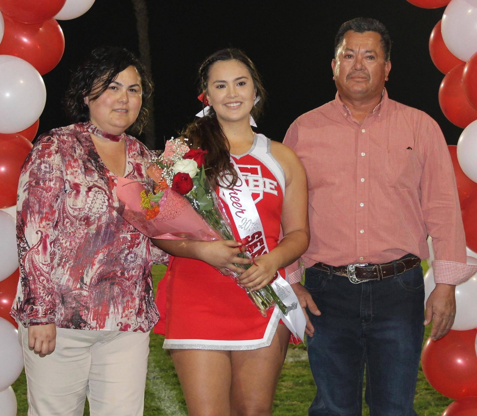 Erika Gallardo and her supporters at Senior Night.