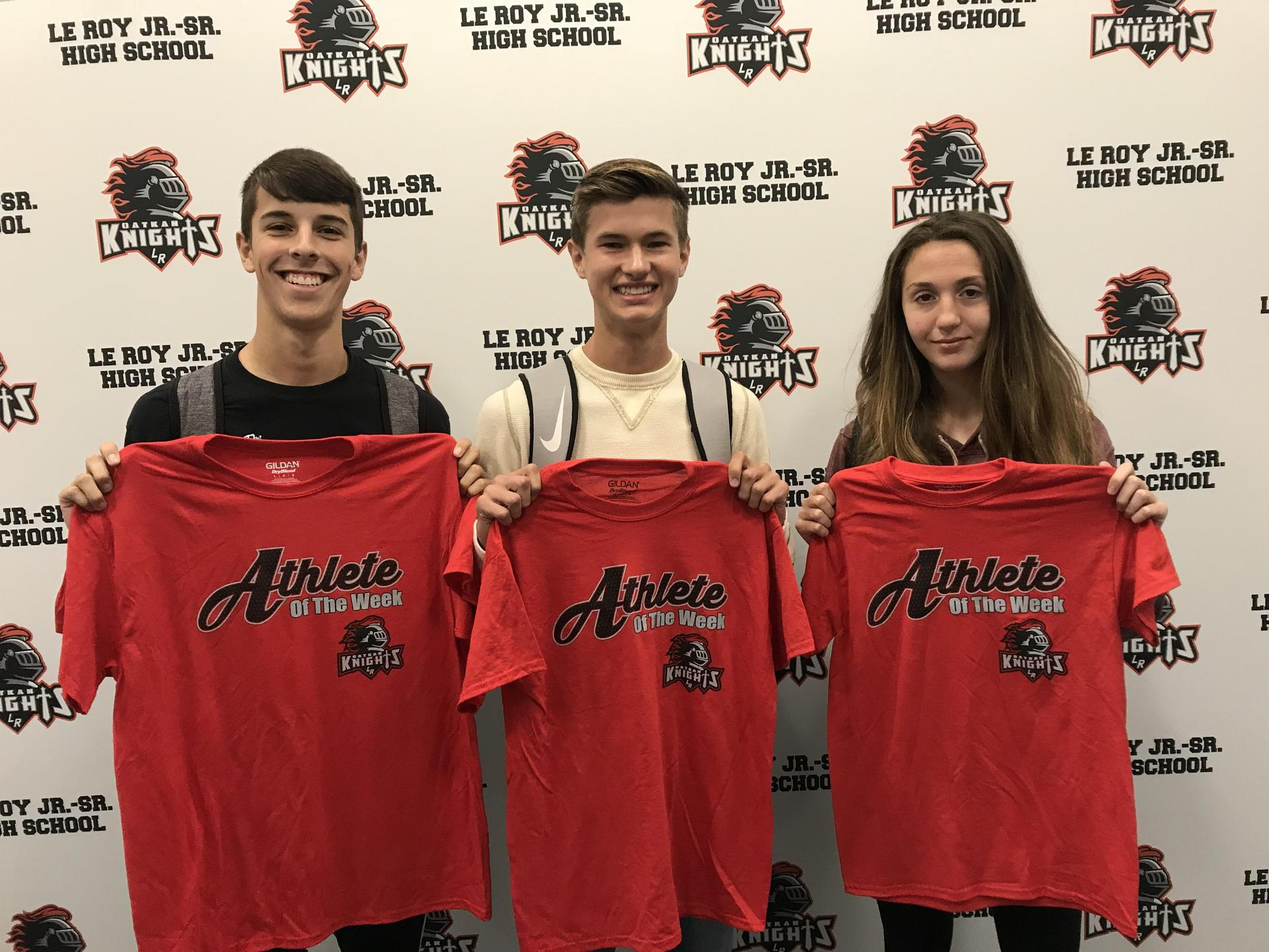 Athlete of the Week - R Mallaber, M McKenzie, M Purdy