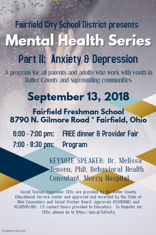 Mental Health Series flyer