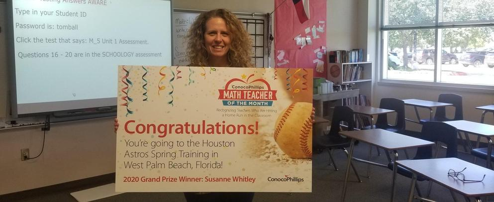 Susanne Whitley Conoco Teacher of the Month Grand Prize Winner