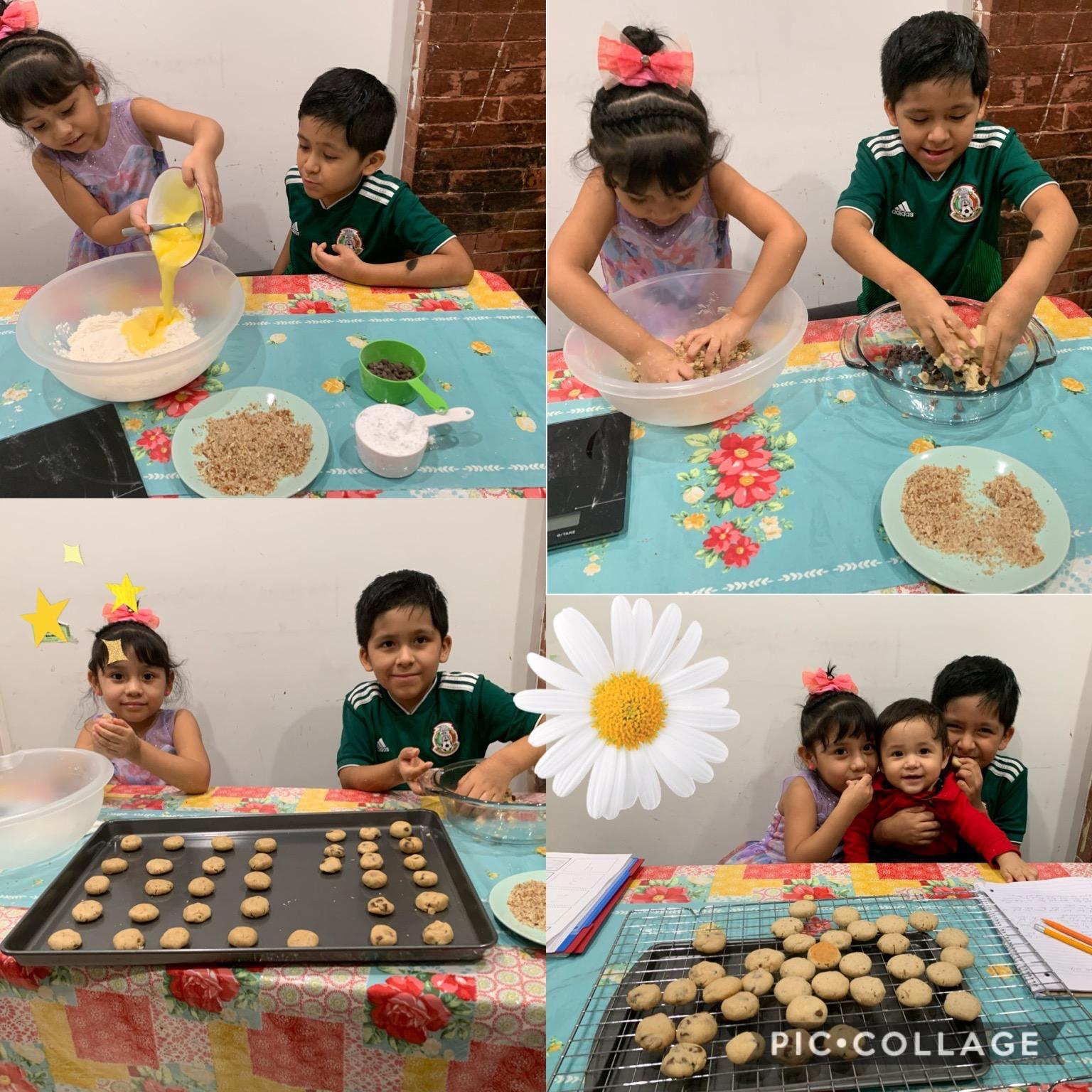 making cookies collage