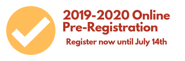 2019-2020 Online Pre-Registration Featured Photo
