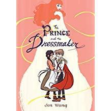 a cartoonish man dressmaker and woman hugging