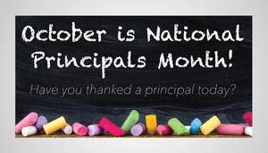 fun graphic on October is principal's month