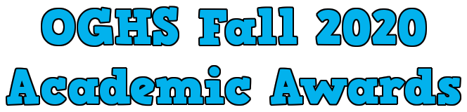 Fall 2020 Academic Awards