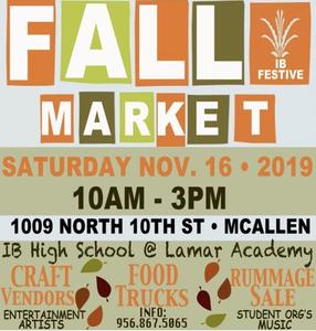 Fall Market Day Nov 16 flyer