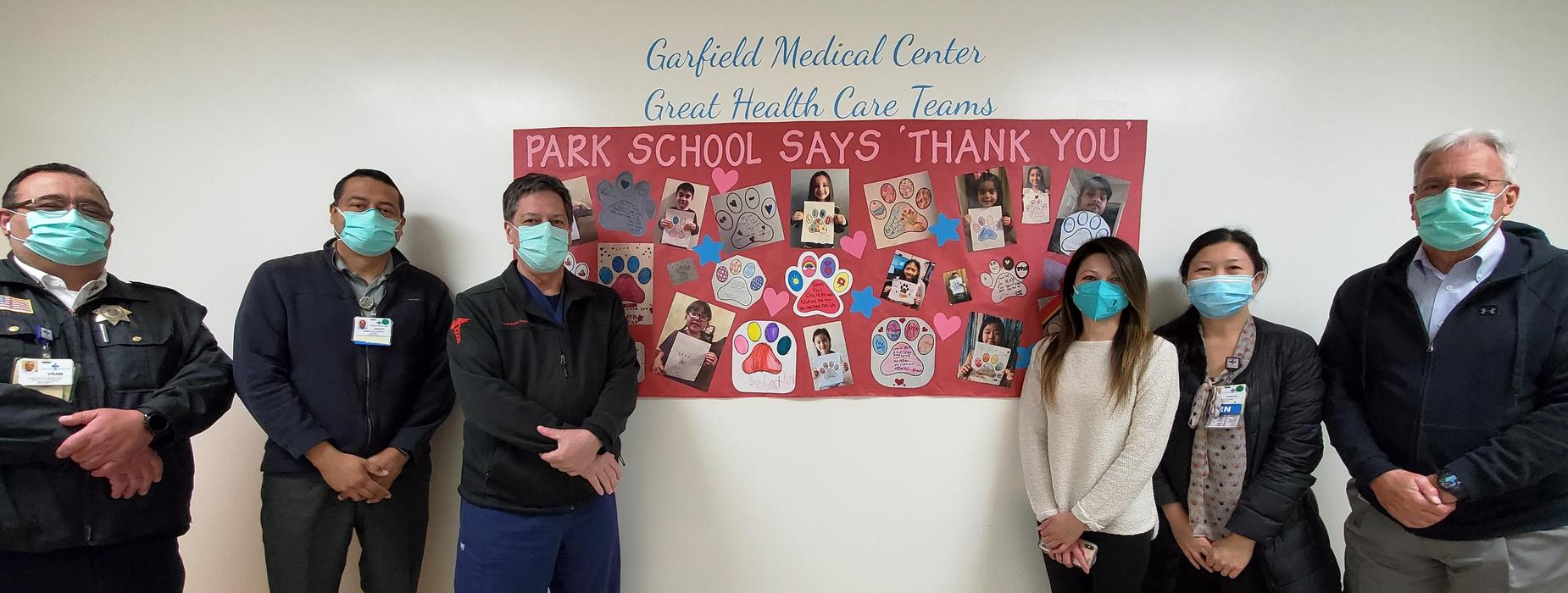 Park says Thank You to Garfield Medical Center Healthcare Workers