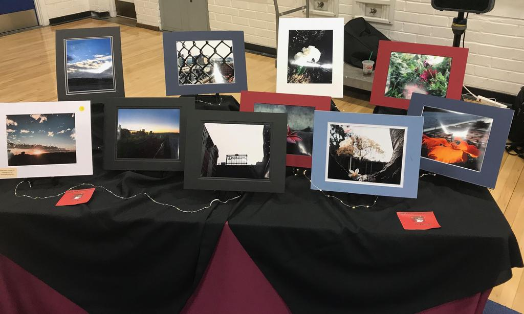 Photographs taken by Salazar students on display