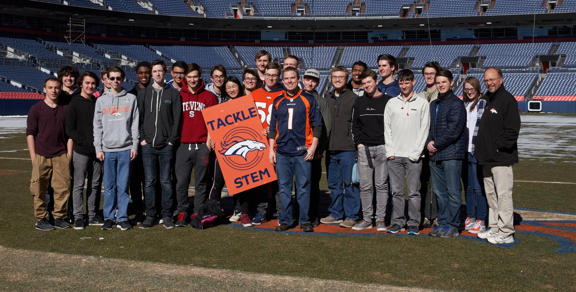 Students at Broncos Stadium