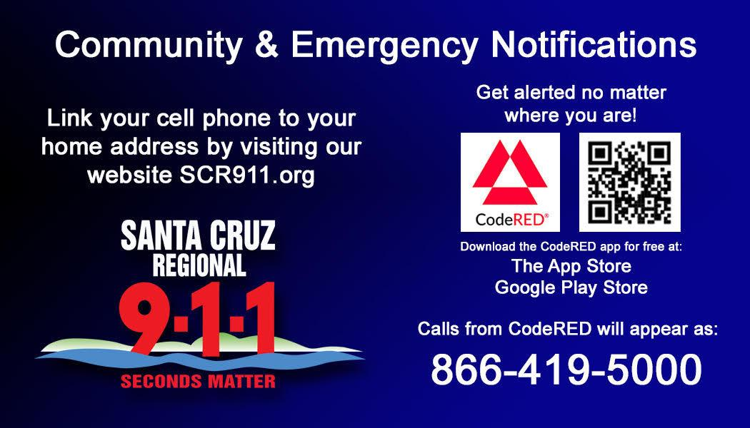 community and emergency notifications; visit scr911.org for info