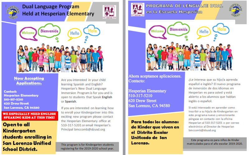 NEW at Hesperian! Dual Language Immersion Program (Kindergarten) Featured Photo