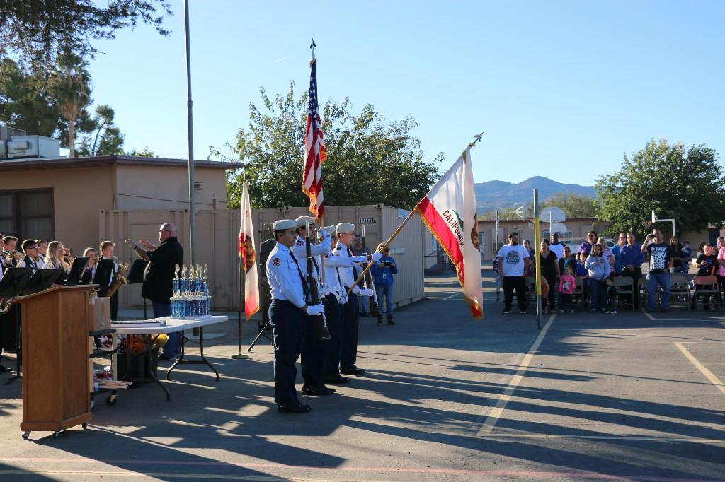 Hemet High School ROTC Present Colors for the Flag Salute at our Veterans Day Celebration