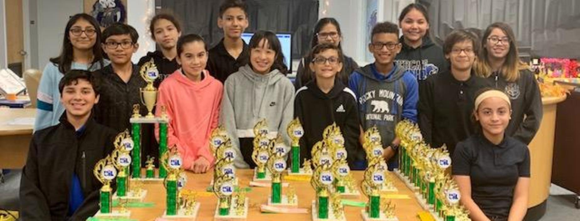 7th Grade UIL wins 1st place