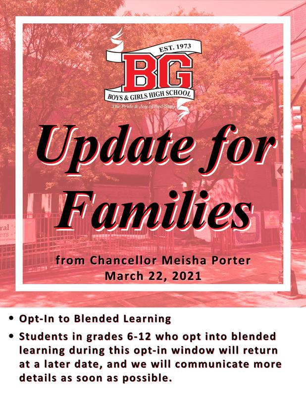 Update for Families from Chancellor Meisha Porter March 22 2021