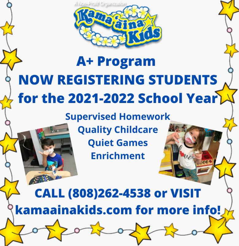 A+ Kamaaina Kids Flyer Featured Photo